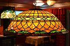 "For Sale - Roman Design 24"" Tiffany Art Glass Lamp (cone)"