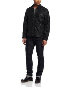 Calvin Klein Men's Faux Leather Moto Jacket, Black, Large Calvin Klein. $119.99