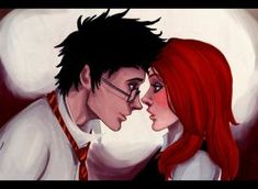 Evans,is this a blush? by viria13 Lily Harry Potter, Lily Evans Potter, Harry And Ginny, Ron And Hermione, James Potter, Harry Potter Fan Art, Harry Potter Universal, Harry Potter Fandom, Remus And Sirius