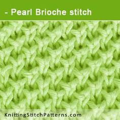 Pearl Brioche stitch. Free Knitting Pattern includes written instructions and video tutorial.