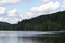 Steinbruvannet sett fra sørsiden i juli 2007 End Of The Line, Small Lake, Oslo, Hiking Trails, Fresh Water, Norway, Mountains, City, Troll