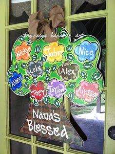 Family Tree Door Hanger - Bronwyn Hanahan Original. $55.00, via Etsy.