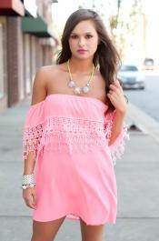 Pink+Highlighter+Dress