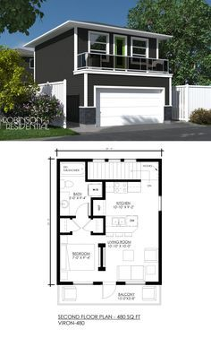 480 sq.ft, 1 bedroom, 1 bath. Would like a deeper garage and larger balcony.