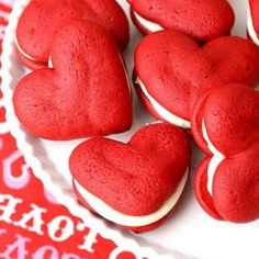 Get your red on for Valentines Day! I can't wait to make these! :) I can tell they will be a hit!