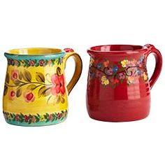 coffee while dreaming of Italy with these Tuscan mugs