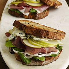Prosciutto, Pear, and Blue Cheese Sandwiches