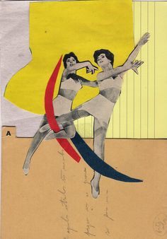 ballerinas - handmade collage by Fitacola