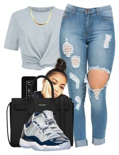 """YouTube: @Lightscamerasylvie"" by trillest-fashion ❤ liked on Polyvore featuring T By Alexander Wang, LG, Yves Saint Laurent and Retrò"
