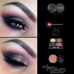 Another fall inspired eye shadow look! The pop of gold shimmer just makes it!