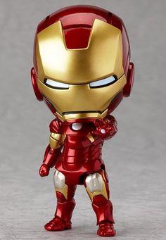 New Nendoroid 284 The Avengers Iron Man Mark Hero& Edition Good Smile Figur Iron Men, Iron Man Suit, Iron Man Armor, Marvel Fabric, Superhero Fabric, Chibi Marvel, Baby Marvel, Marvel Comics, Mini Iron