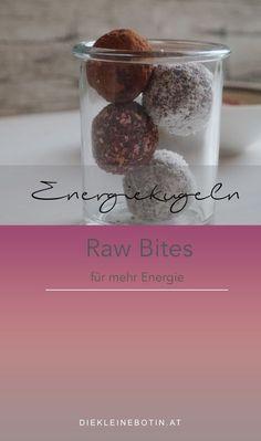 Energiekugeln. Raw Bites. Stillkugeln. Wochenbett-Kugeln.
