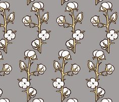 Cotton Plant Fabric By Kim Buchheit On Spoonflower
