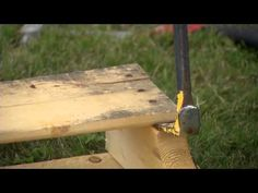 How I Disassemble a Pallet. You'll want a pry bar, hammer, and your pallets!