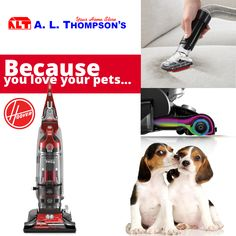 "The Hoover® WindTunnel® 3 Pro Pet Bagless Upright Vacuum.  For the seen and ""unseen"" pet hair and debris."
