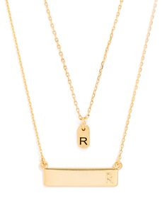 Classic: Metallic Personalized Gift Set (Retail Value $78) Necklace   BaubleBar