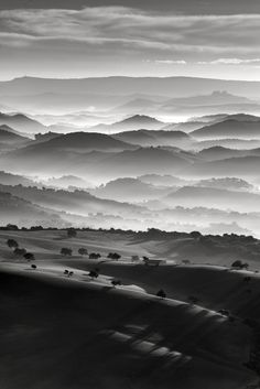 Excellent Gardening Ideas On Your Utilized Espresso Grounds Andalusia Spain Black And White Picture Wall, Black And White Pictures, Gray Aesthetic, Black And White Aesthetic, Nature Images, Nature Pictures, Landscape Photography, Nature Photography, Ligne D Horizon