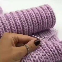 knitting tutorial for beginners by honarkadeh. easy knitting tutorial for beginners by honarkadeh.elham, easy knitting tutorial for beginners by honarkadeh. Baby Knitting Patterns, Knitting Stiches, Knitting Videos, Easy Knitting, Knitting Designs, Crochet Stitches, Knit Crochet, Knitting Tutorials, Scarf Patterns