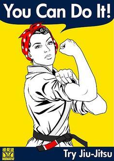 'Try Jiu-Jitsu' Poster by Meerkatsu Aikido, Taekwondo, Kickboxing, Muay Thai, Karate Shotokan, Judo Karate, Karate Girl, Mma, Learn Krav Maga