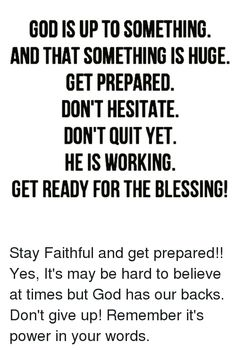 Image result for Don't hesitate with God