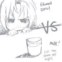 Edward Elric VS Milk by Gadget14