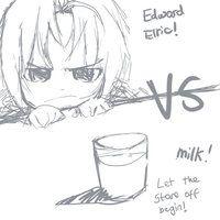 Edward Elric VS Milk by Gadget14
