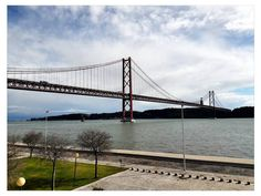 April 25th Bridge over Tagus River in isbon Portugal.  #portugal #lisboa #lisbon #igers #igersportugal #tagusriver #ponte25deabril