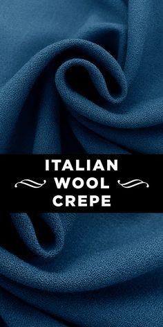 Italian Virgin Wool Crepe in Cerulean Blue