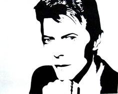 David Bowie pop art by Josilk Face Stencils, Stencil Art, David Bowie Art, Caricature Artist, Ecole Art, Silhouette Art, Black And White Canvas, Art Plastique, Famous Faces