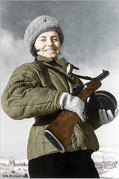 Red Army woman soldier