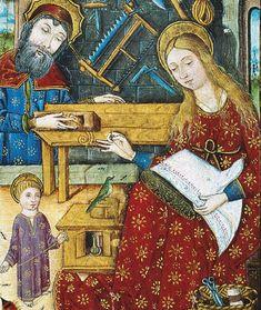 Madonna in scenetta familiare. British Library, unknown book art The Holy Family
