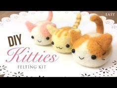 DIY Kawaii Felt Kittens Tutorial