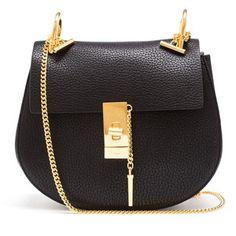 CHLOÉ Grained Leather Drew Bag
