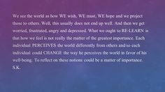 perceive the world