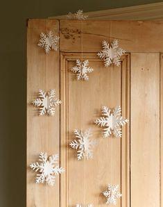 Snowflake garland - eco Christmas gift guide // Paper Tree // The Natural Wedding Company