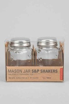 Mason Jar Salt and Pepper Shaker-Set Of 2 - Urban Outfitters