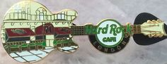 Hard Rock Cafe London 2015 Facade Guitar Pin Le 350 New w Bag HRC Catalog 82234   eBay