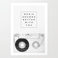 Music Sounds Better With You by Galaxy Eyes motivationmonday print inspirational black white poster motivational quote inspiring gratitude word art bedroom beauty happiness success motivate inspire Typography Quotes, Typography Prints, Typography Poster, Art Mural, Inspirational Posters, Motivational Posters, Galaxy Eyes, Online Posters, Musica