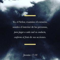 Sólo yo el Dios de Israel sé muy bien lo que piensan y los castigaré por su mala conducta. Jeremías 17:10 @youversion @ibvcp #buenosdias #islademargarita #venezuela