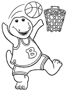 barney and friends coloring pages 16