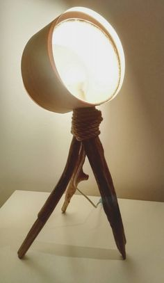 Whitewood Table Lamp Tripod