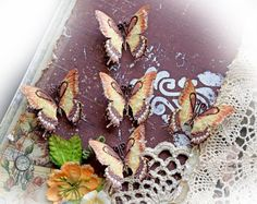 Newly Listed!! Reneabouquets Tiny Treasures Butterfly Set-  Salted Caramel Glitter Glass Butterflies~now, the original Salted Caramel Glitter Glass Butterflies come in a sweet, small size that are perfect for scrapbooking, cardmaking, tags, mini albums, weddings or altered item applications called Reneabouquets Tiny Treasures.  Come collect your treasures at: https://www.etsy.com/listing/193694313/reneabouquets-tiny-treasures-butterfly?ref=shop_home_active_1