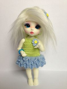 Forget-me-not flowery set for Pukifee / Lati by CarleesiCrochets