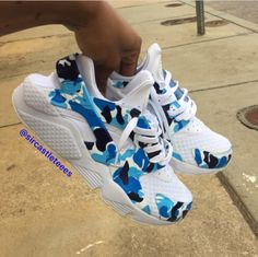 Thoughts on these Bape Huaraches?  | @sircastleteees #customizerdepot