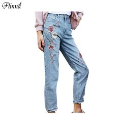 Cheap women bottoms, Buy Quality pants women directly from China bottoms women Suppliers: An easy way to get your outfit effortlessly trend? Embroidered denim It girls from the 60's were wearing embroiderises
