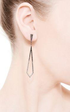 The Ombre Open Chrysler Earrings by Eva Fehren for Preorder on Moda Operandi