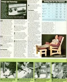 #2820 Lounge Chair Plans - Furniture Plans