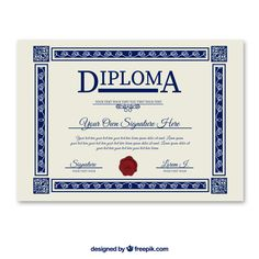 Free Diploma Template: A Document You Can Use to Certify the Graduated Students The free diploma template is a useful template when you have to provide the College Diploma, School Images, Licence Lea, Vector Free Download, Text Design, Adobe Illustrator, Software, Clip Art, Author