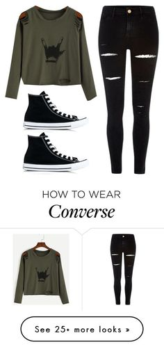 Untitled #303 by luka1207 on Polyvore featuring River Island and Converse
