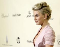 Julianne Hough's Fauxhawk Hair Style from the Golden Globes